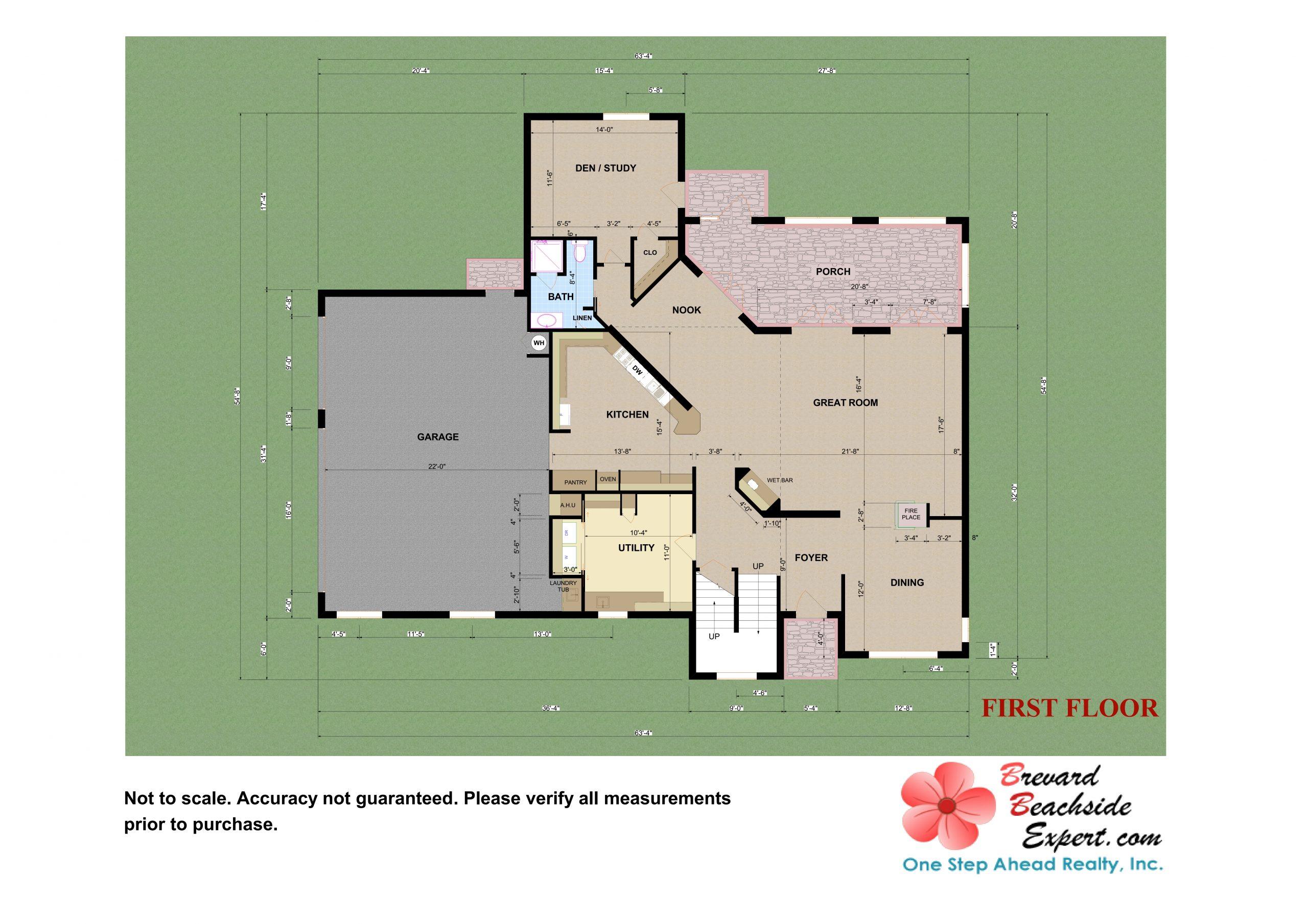 432 Riverview Lane, Melbourne Beach - 1st - Floor- 2D - Floorplan