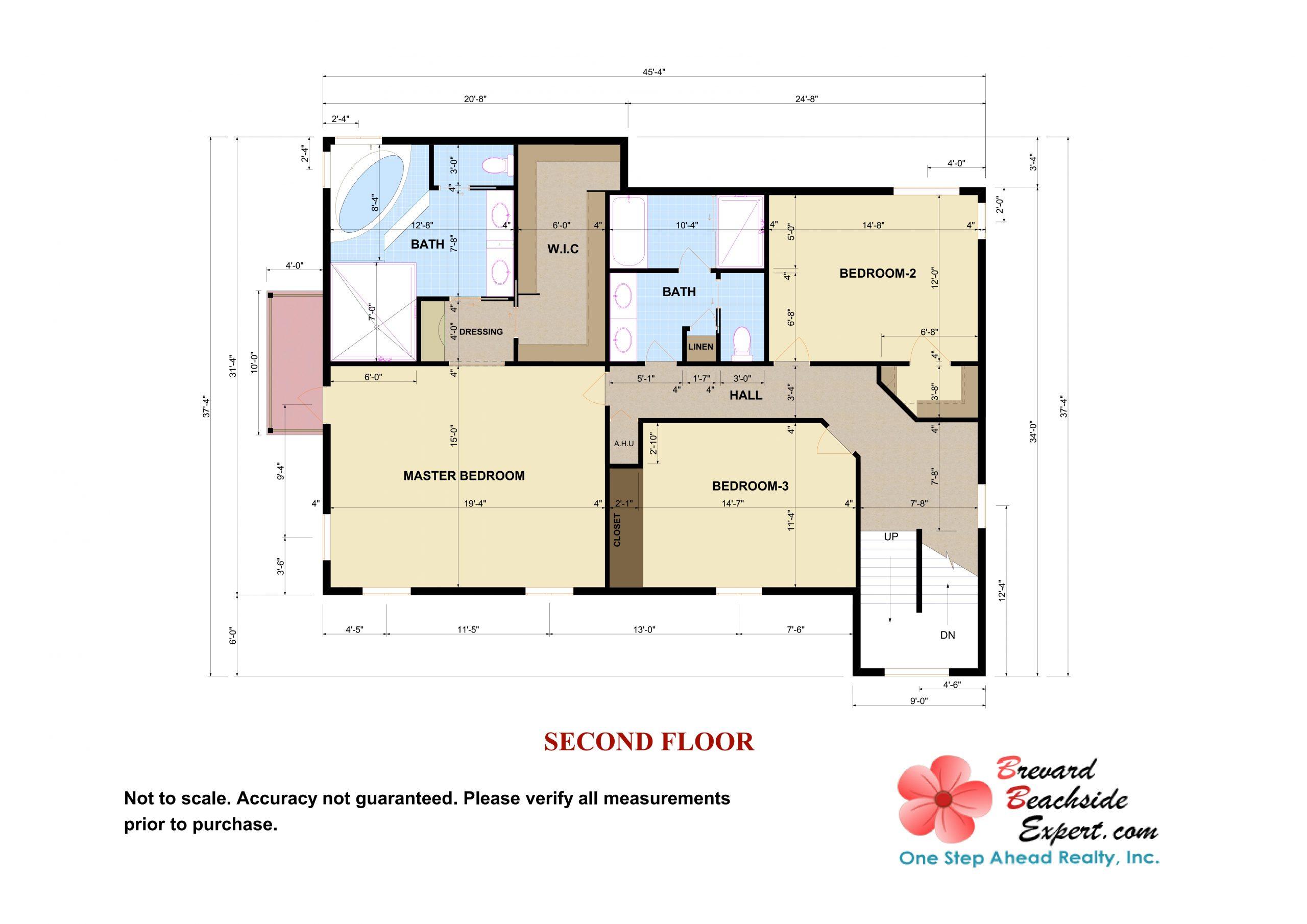 432 Riverview Lane, Melbourne Beach - 2nd - Floor- 2D - Floorplan