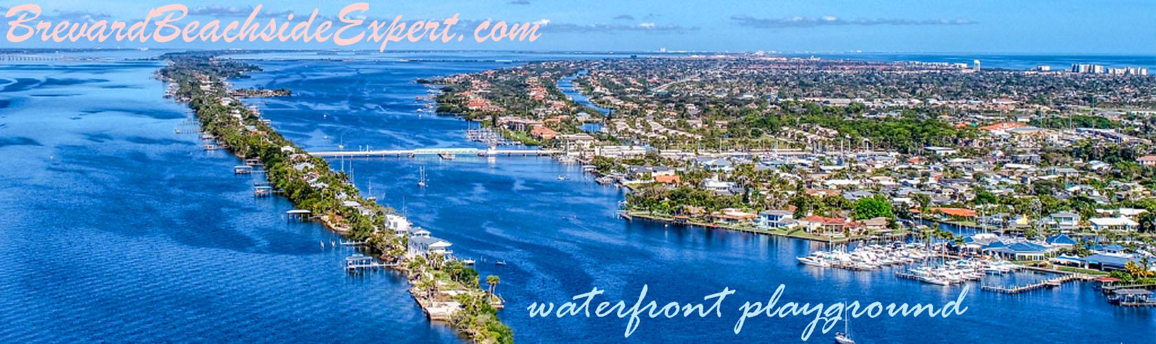 Dragon Point Merrit Island Florida Aerial Banner