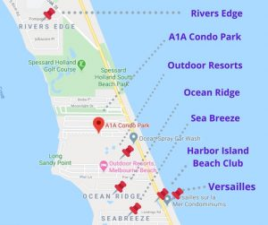 Rivers Edge, Melbourne Beach - MAP and nearby communities