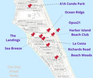 For Sale: The Landings Townhomes, Melbourne Beach MAP and nearby communities
