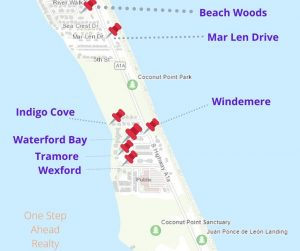 For Sale: Windemere Shores, Melbourne Beach MAP and nearby communities