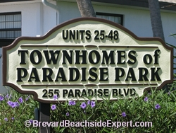 Townhomes of Paradise Park, Indialantic - Real Estate, For Sale, For Rent, Listings